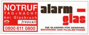 Alarmglas Glaserei Berlin